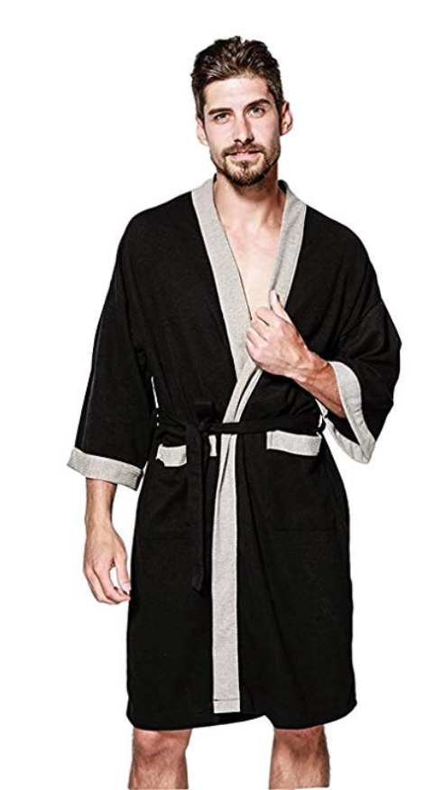 Underwear & Sleepwears Mens Winter Flannel Hooded Robe Male Warm Long Bathrobes Comfort Solid Bath Robe Casual Lovers Kimono Male Lounge Robes Green Making Things Convenient For Customers