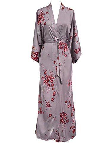 e174d94c9 Old Shanghai Women's Kimono Robe Long – Watercolor Floral · Cozy Robes ...