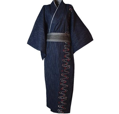 de62a4117d363 MAYSONG Men's Japanese Embroidery Kimono Home Robe Pajamas Dressing Gown