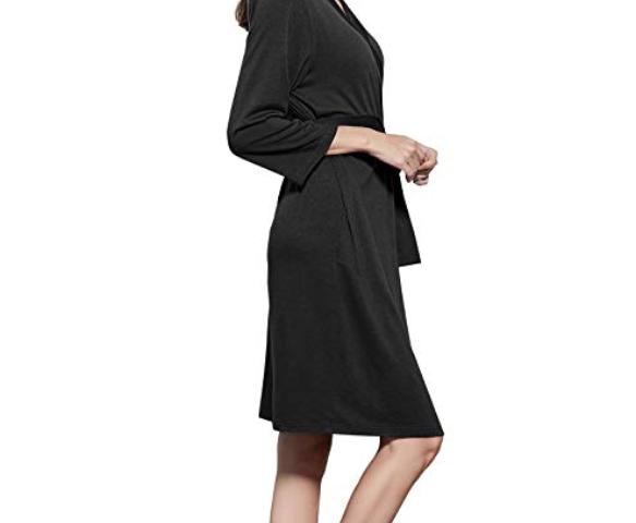 494c1bb4bf8ae Women's Bathrobe Lightweight Robe Soft Cotton Bath Robe Sleepwear Loungewear