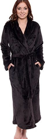 597bd64040 Silver Lilly Lightweight Full Length Kimono Robe for Women – Plush Comfy Long  Bathrobe (Sizes Small – Plus Size XXL)