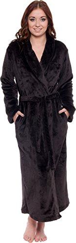 Sizes Small - Plus Size XXL Plush Comfy Bathrobe Silver Lilly Lightweight Hooded Kimono Robe for Women